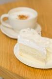 Caffè e dolce Fotografie Stock