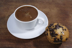 Caffè e focaccina Fotografia Stock Libera da Diritti