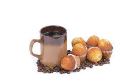 Caffè e focaccina Immagine Stock Libera da Diritti