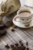 Caffè e fondo 10 di choco Fotografie Stock Libere da Diritti