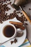 Caffè e fondo 16 di choco Fotografia Stock
