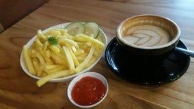 Caffè e fritture Fotografie Stock Libere da Diritti