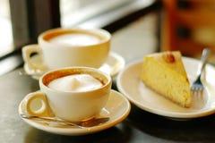 Caffè e grafico a torta Immagine Stock
