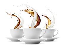 Caffè e latte fotografie stock