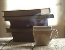 Caffè e libri Fotografia Stock Libera da Diritti