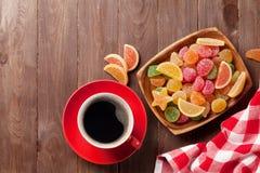 Caffè e marmellata d'arance immagini stock libere da diritti