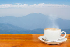 Caffè e montagna Immagini Stock