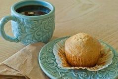 Caffè e muffin casalingo Fotografia Stock Libera da Diritti