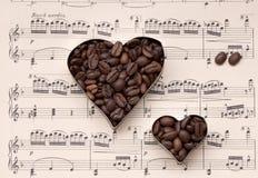 Caffè e musica - ancora vita Fotografia Stock