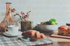Caffè e paesaggio del forno Fotografia Stock