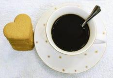 Caffè e pan di zenzero Immagine Stock