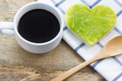 Caffè e pane fotografie stock