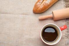 Caffè e pane Immagine Stock Libera da Diritti