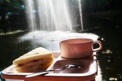 Caffè e panini. Fotografia Stock