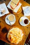 Caffè e panini del caffè dell'Italia Firenze immagine stock libera da diritti