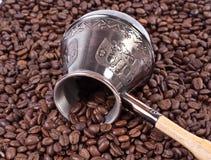 Caffè e POT turco Immagini Stock Libere da Diritti