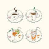 Caffè e rinfreschi caldi Fotografia Stock Libera da Diritti