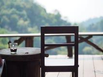 Caffè e sedia Fotografia Stock