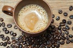 Caffè e seme Fotografia Stock