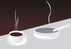 Caffè e sigaretta Immagine Stock Libera da Diritti