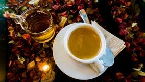 Caffè e tè in caffè Immagine Stock Libera da Diritti