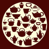 Caffè e tè - illustrazione Fotografia Stock Libera da Diritti