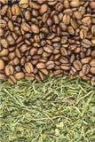 Caffè e tè verde Fotografia Stock