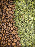 Caffè e tè verde Fotografia Stock Libera da Diritti