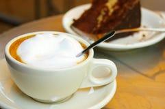 Caffè e torta Fotografie Stock