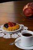 Caffè e torta Fotografia Stock