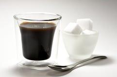 Caffè e zucchero Immagini Stock
