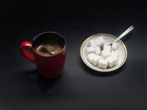 Caffè e zucchero Fotografie Stock