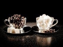 Caffè e zucchero Fotografie Stock Libere da Diritti