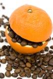Caffè ed arancio Immagine Stock Libera da Diritti