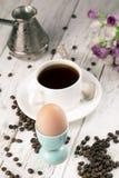 Caffè ed uovo fotografia stock