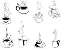 Caffè. Elementi per il disegno Immagine Stock Libera da Diritti