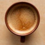 Caffè espresso bianco del caffè della tazza Immagini Stock