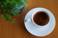 Caffè espresso caldo del caffè Fotografie Stock Libere da Diritti