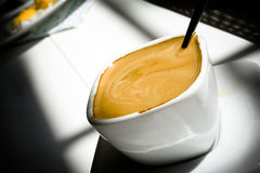 Caffè espresso della prima colazione di mattina Fotografie Stock Libere da Diritti