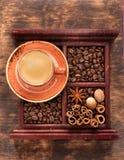 Caffè espresso della tazza Fotografie Stock