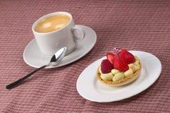 Caffè espresso e torta Fotografie Stock Libere da Diritti