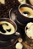 Caffè espresso italiano appena preparato Fotografia Stock Libera da Diritti