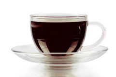 Caffè espresso su priorità bassa bianca Immagine Stock Libera da Diritti