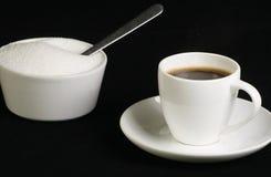 Caffè espresso in tazza bianca Fotografia Stock