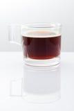 Caffè espresso uno sparato su fondo bianco Immagini Stock