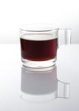 Caffè espresso uno sparato su fondo bianco Immagine Stock Libera da Diritti