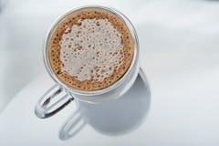 Caffè espresso in vetro fotografia stock
