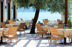 Caffè esterno in Italia Immagini Stock
