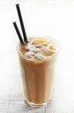 Caffè ghiacciato con latte Fotografia Stock Libera da Diritti