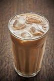 Caffè ghiacciato con latte Fotografie Stock Libere da Diritti